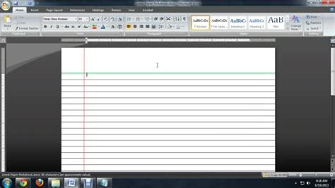 How To Make Lined Paper - how to make lined paper with microsoft word ehow