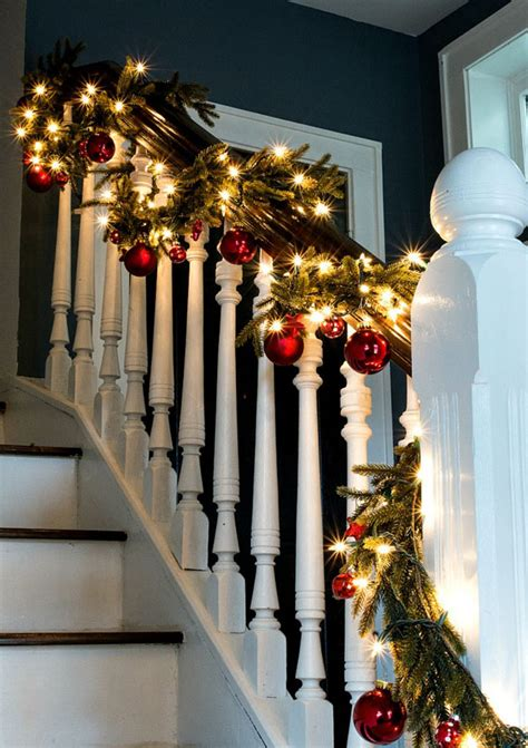 stair garland with lights awesome picture of garland with lights for