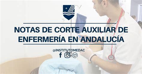 corte de nota enfermeria notas de corte de auxiliar de enfermer 237 a institutos
