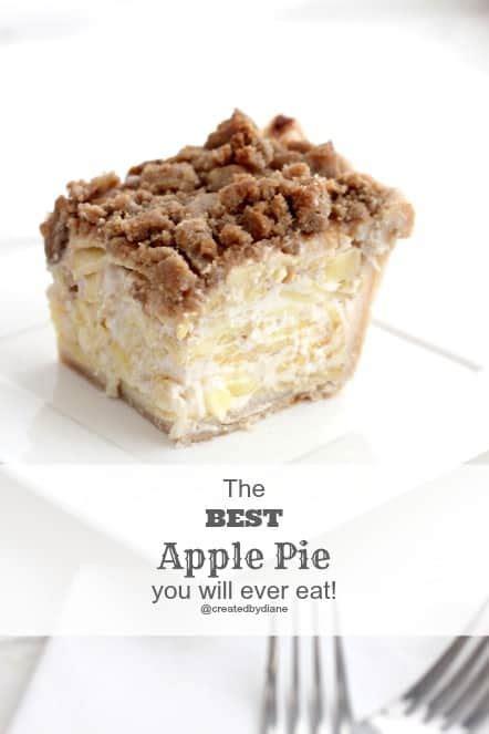 sour cream apple pie recipe created by diane