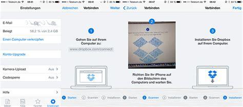 dropbox connect dropbox ios update erleichtert desktop installation
