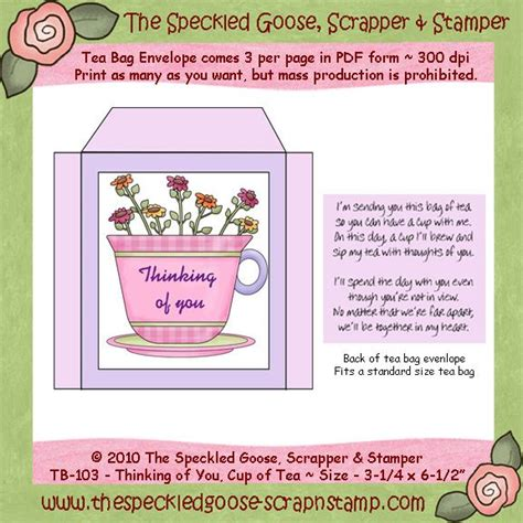 printable tea bag envelope templates pin by catherine fowler on sassylady s crafts pinterest