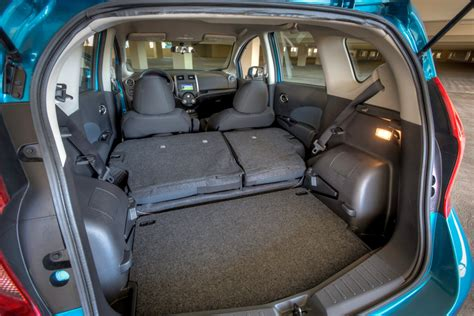 nissan versa note back seat 2014 nissan versa note sv driving report car review