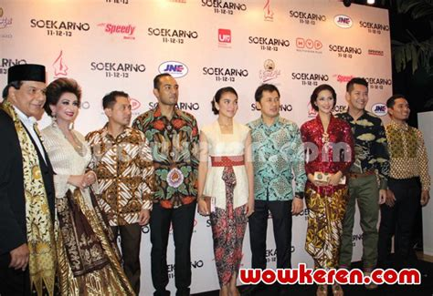 film soekarno pemeran fatmawati foto galeri premiere film soekarno foto 7 dari 19