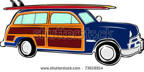 surf car clipart woody car stock images royalty free images vectors