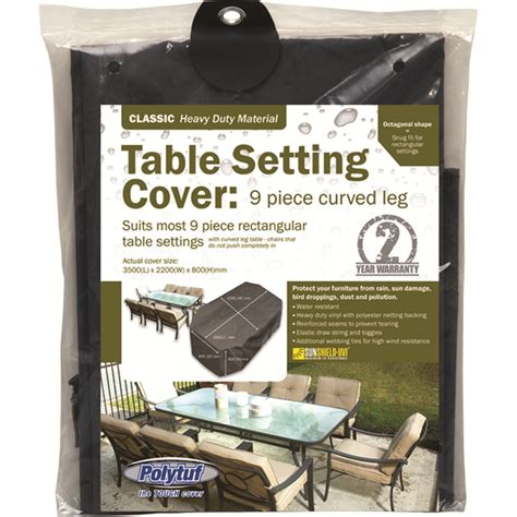 Outdoor Furniture Covers Bunnings Polytuf Outdoor Furniture Cover To Suit Classic 9pc Curve