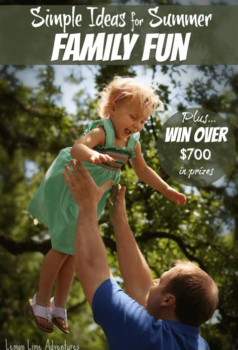 Fun Giveaway Ideas - simple ideas for summer family fun
