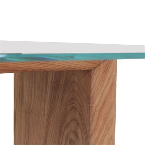 Solid Wood Top Dining Table Glass Top Solid Wood Dining Table Rotsen Furniture Touch Of Modern