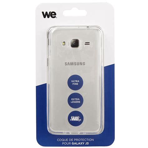 Coque de protection pour Samsung Galaxy J3 Transparente, WE   Top Achat