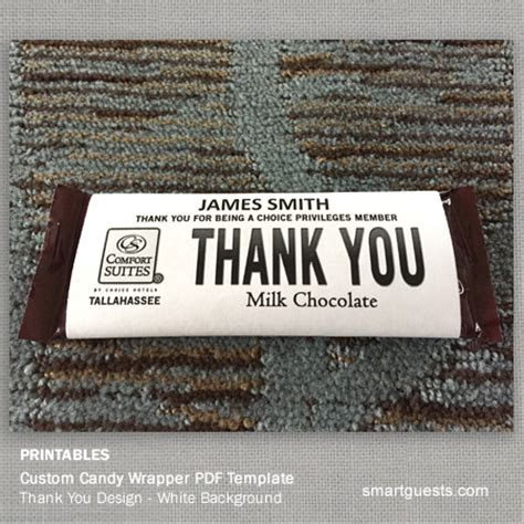 printable custom candy bar wrapper pdf template print at