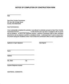 Lease Completion Letter 33 Sle Notice Forms