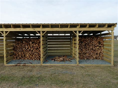 Quality Firewood Storage Shed Plans by Woodshed Slat Spacing Arboristsite