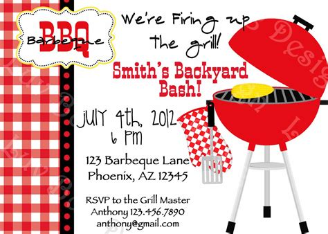 Printable Grill Invitation | bbq invitation printable party invites by luv bug by