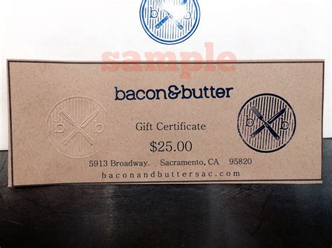 Online Gift Cards For Restaurants - bacon butter sacramento restaurant gift cards and certificates online