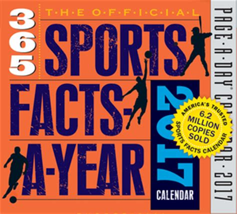 Pdf Official Sports Facts Year Calendar by Page A Day Calendars Workman Publishing