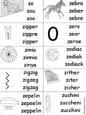 letter z alphabet activities at enchantedlearning