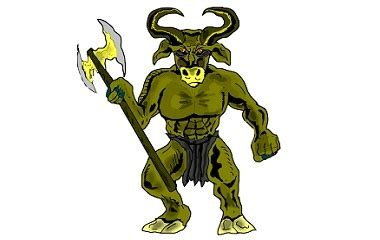 minotaur legendary monster in greek mythology