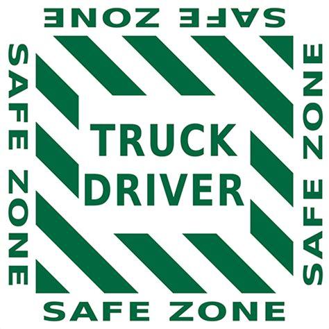 drive zone truck driver safe zone floor sign industrial floor tape