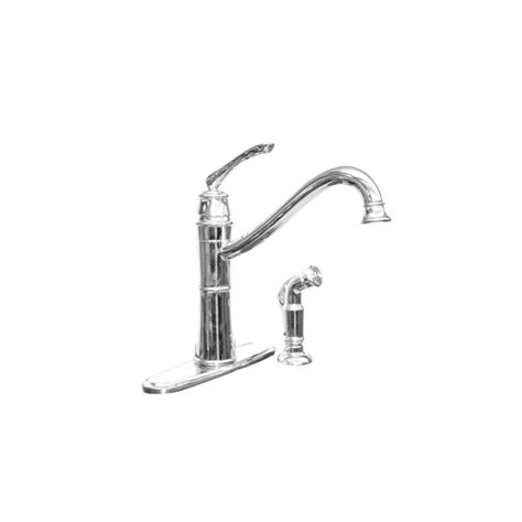 moen high arc kitchen faucet shop moen wetherly chrome 1 handle high arc kitchen faucet