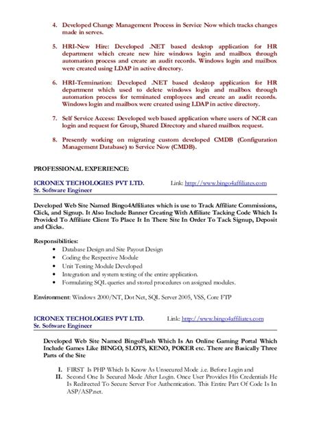 Resume Format Using Html Code Sle Resume For Testing Templates And Exles Careerride Simple Resume Template