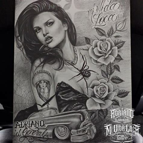 lowrider tattoo bali 321 best chicas images on pinterest chicano tattoos