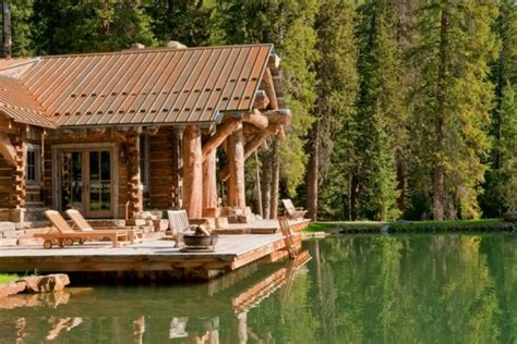 Cabins On The Water by Log Cabin The Water Cabin In The Woods