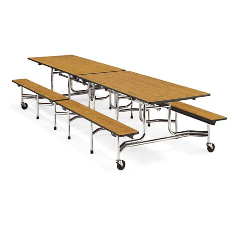 virco mobile bench cafeteria table seats 12 on sale now