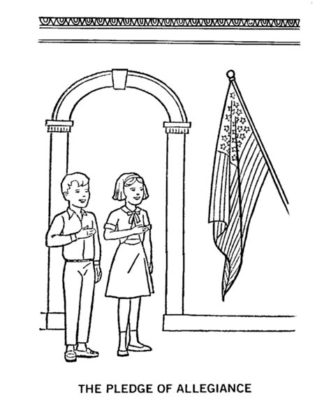 Pledge Of Allegiance Coloring Page American History Pledge Of Allegiance Coloring Page
