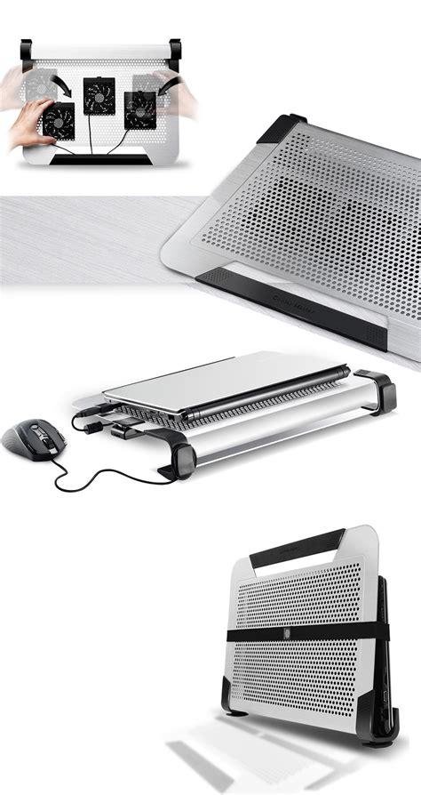 Diskon Cooler Master Notepal U3 Plus Black Silver With 3 Fan cooler master notepal u3 plus notebook cooler pad r9 nbc