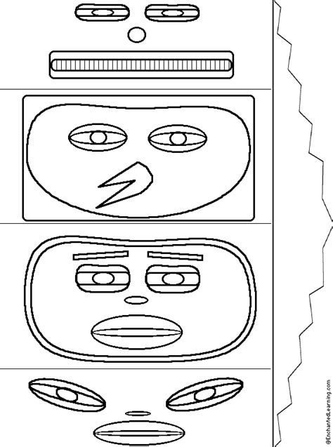 Totem Pole Template by Totem Pole Craft Enchanted Learning Software