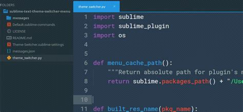sublime text 3 create theme why do sublime text 3 themes not affect the sidebar