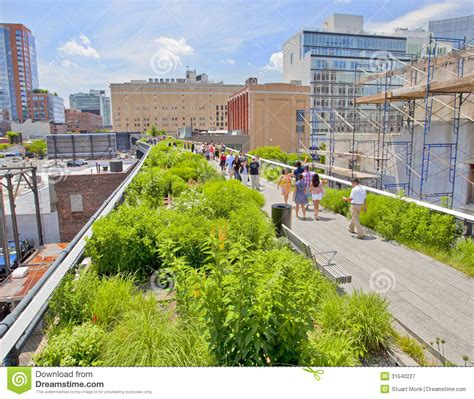 Landscape Architecture License New York Chelsea High Line Park Editorial Photography Image Of
