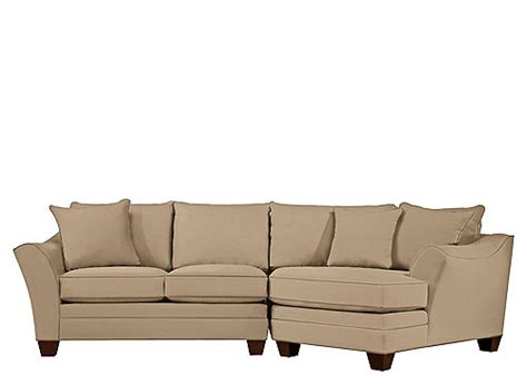 foresthill sectional foresthill 2 pc microfiber sectional sofa peat