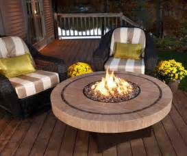 wonderful Best Propane Fire Pit Tables #2: Propane-Fire-Pit-Table-With-Yellow-Green-Cushion-Chairs.jpg