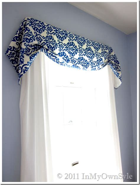 How To Make Window Valances how to make a no sew window treatment in my own style