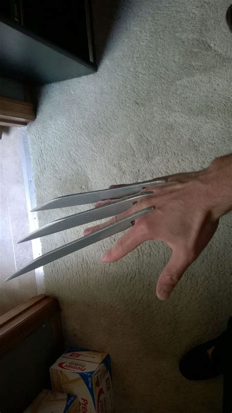 How To Make A Wolverine Claws Out Of Paper - diy fiberglass wolverine claws