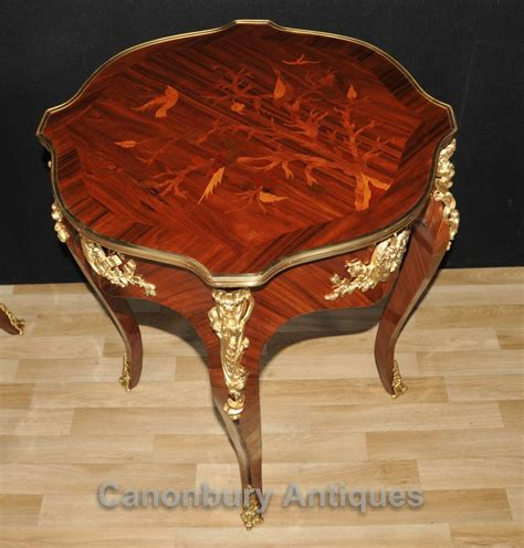 martini table with bird pair french louis xvi side cocktail tables bird inlay ebay