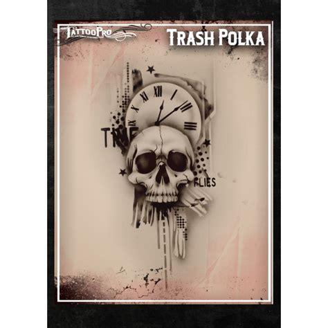 airbrush tattoo stencils pro trash polka facepaint