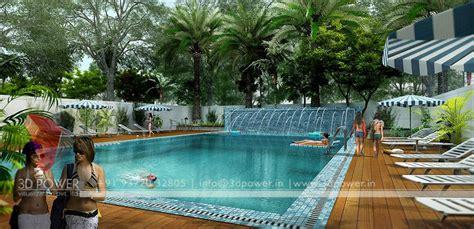 community pool design township designing studio tumkur 3d power