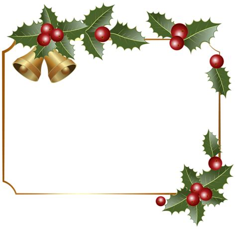 christmas border decor with bells png clipart image