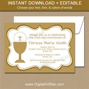 holy communion invitations templates holy communion invitations printable gold