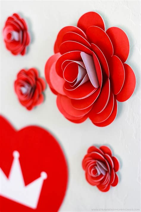 Make Easy Paper Roses - how to make easy paper roses strawberry mommycakes