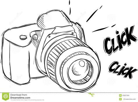 sketchbook pro to vector illustrazione della macchina fotografica nello stile di