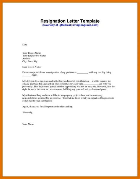 9 10 Resignation Letter Templates For Word Formatmemo Letter Templates For
