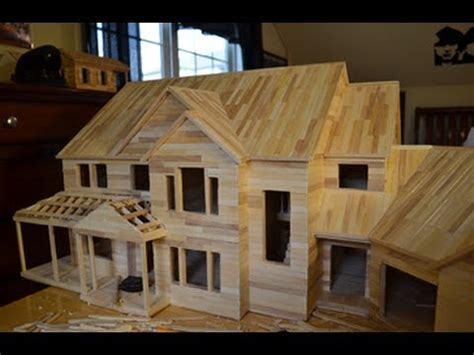 popsicle stick house floor plans building popsicle mansion time lapse hd youtube