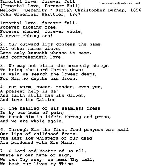 An American Song American Song Lyrics For Immortal Forever With Pdf