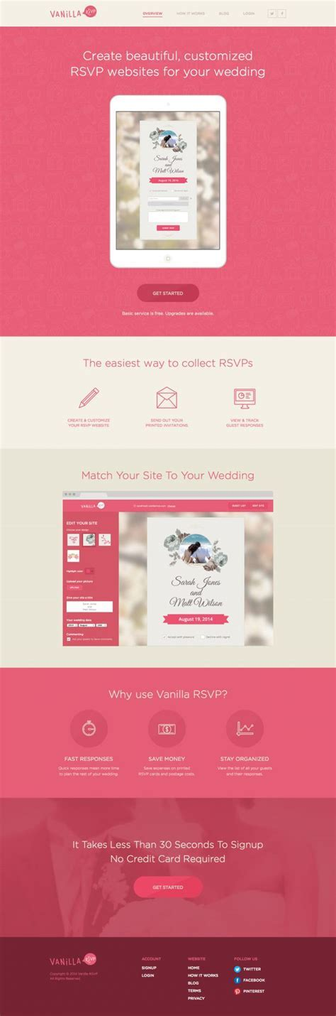 Wedding RSVP Online   Webdesign inspiration www