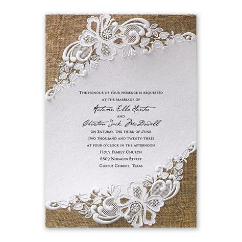 lacy invitation invitations by