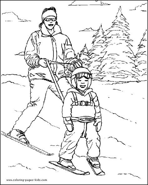 ski coloring pages for kids
