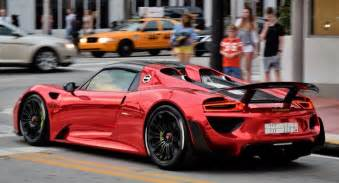 Porsche Spydet Chrome Porsche 918 Spyder Turns Heads On Miami